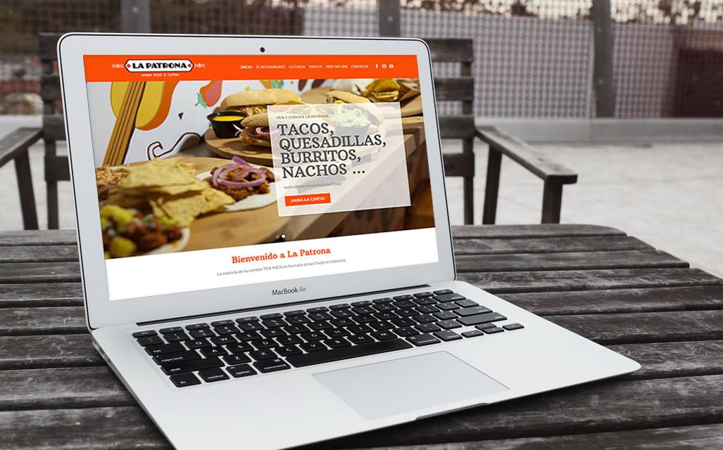 Diseño página web La Patrona Street Food