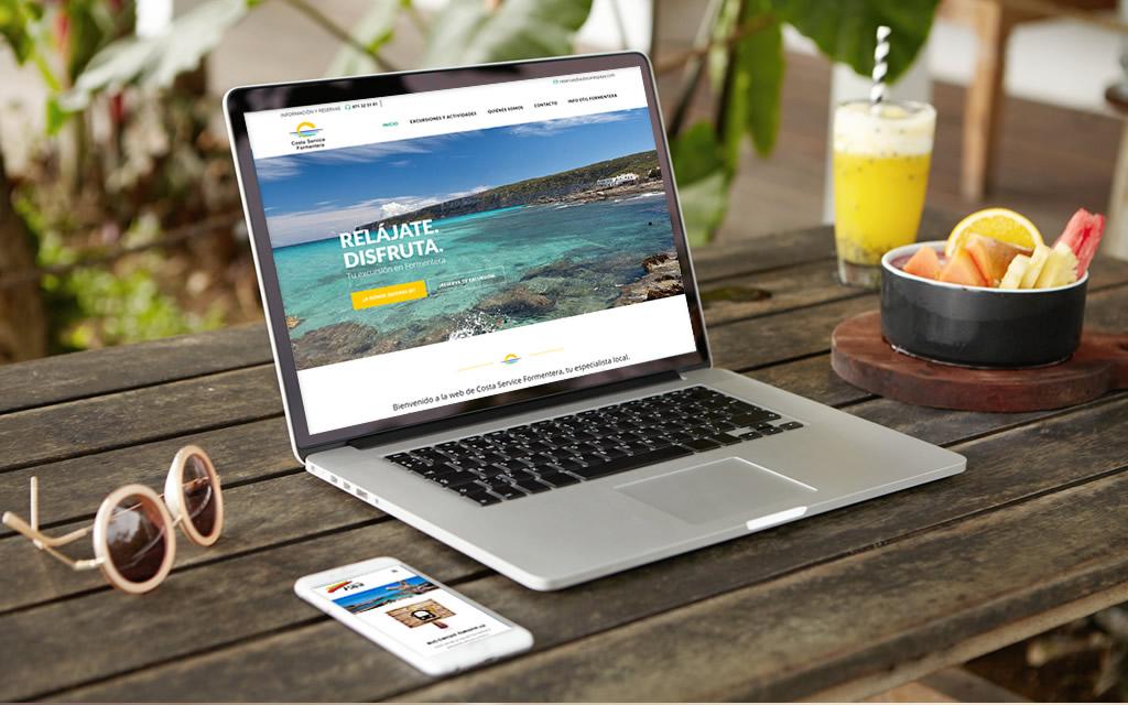 diseño página web costa service