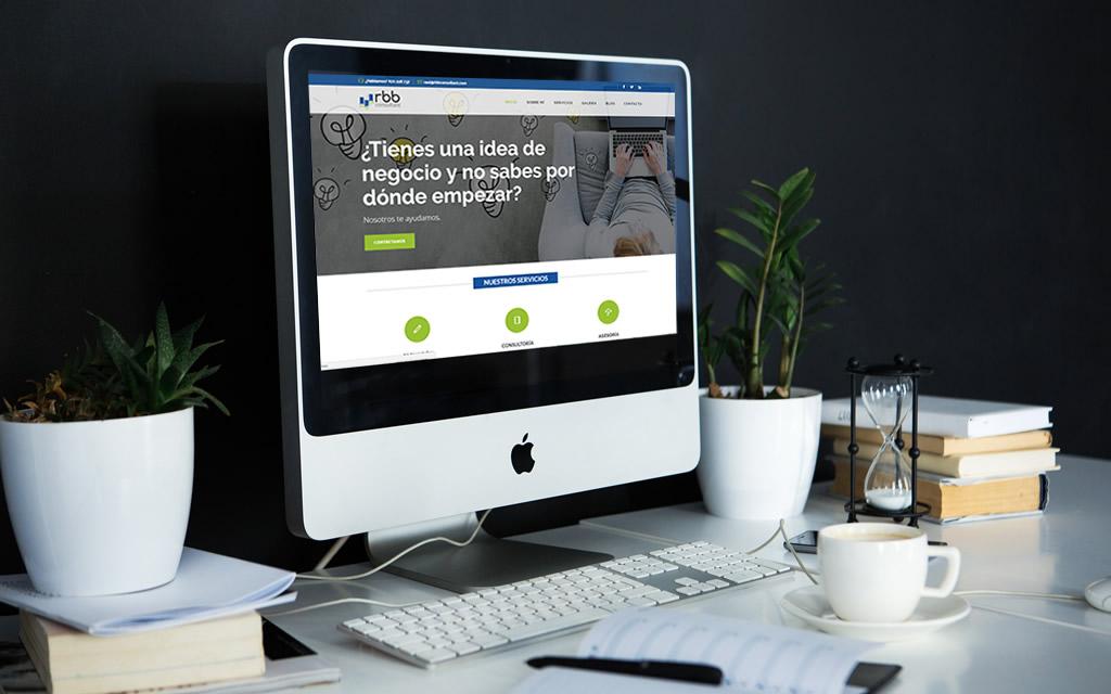 diseño página web rbb consultant