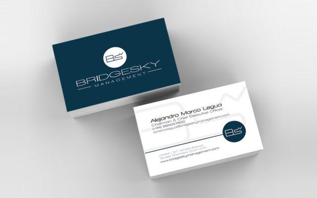 Diseño tarjetas Bridgesky Management