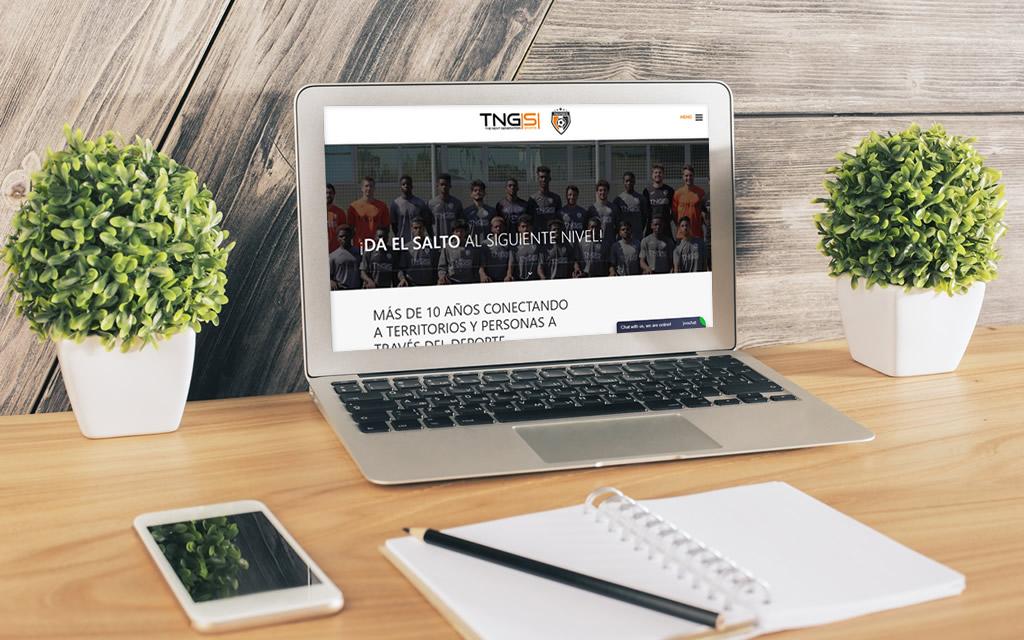 Diseño web TNG Sports