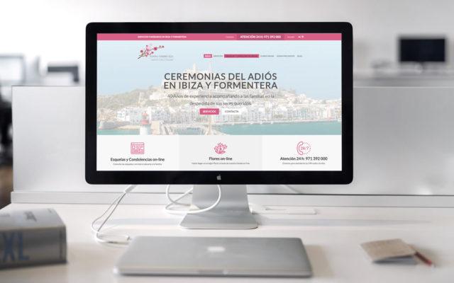 Diseño web Pompas Fúnebres Ibiza