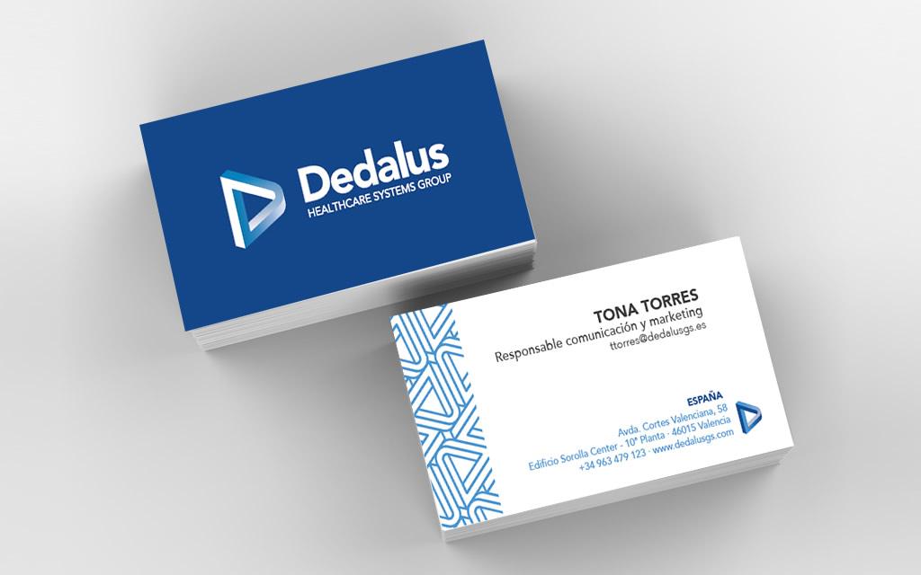 Diseño tarjetas Dedalus