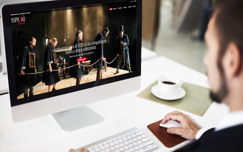 Diseño web Yapadú Produccions