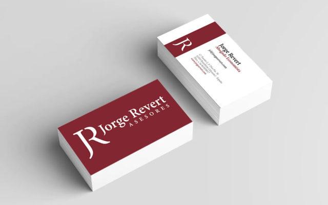 Diseño tarjetas Jorge Revert Asesores