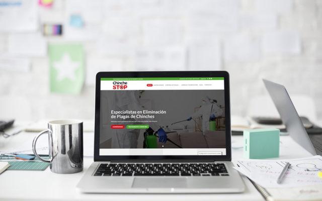 diseño web Chinche Stop