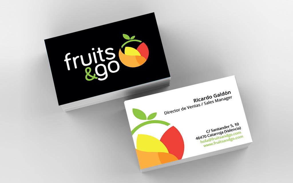 diseno tarjetas fruits and go